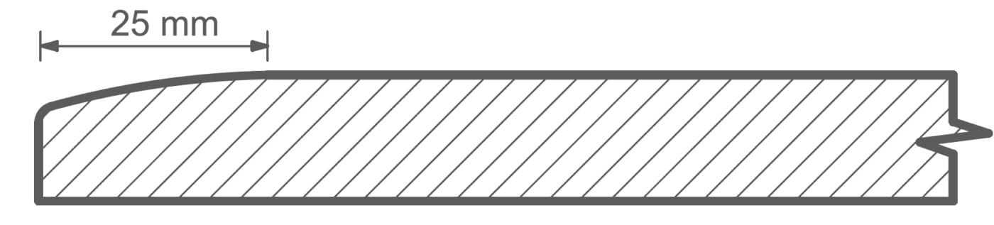 Köksluckor till IKEA Faktum och Metod med dövad kant.