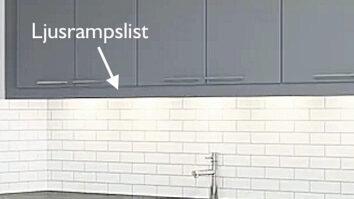 Ljusrampslist IKEA Faktum