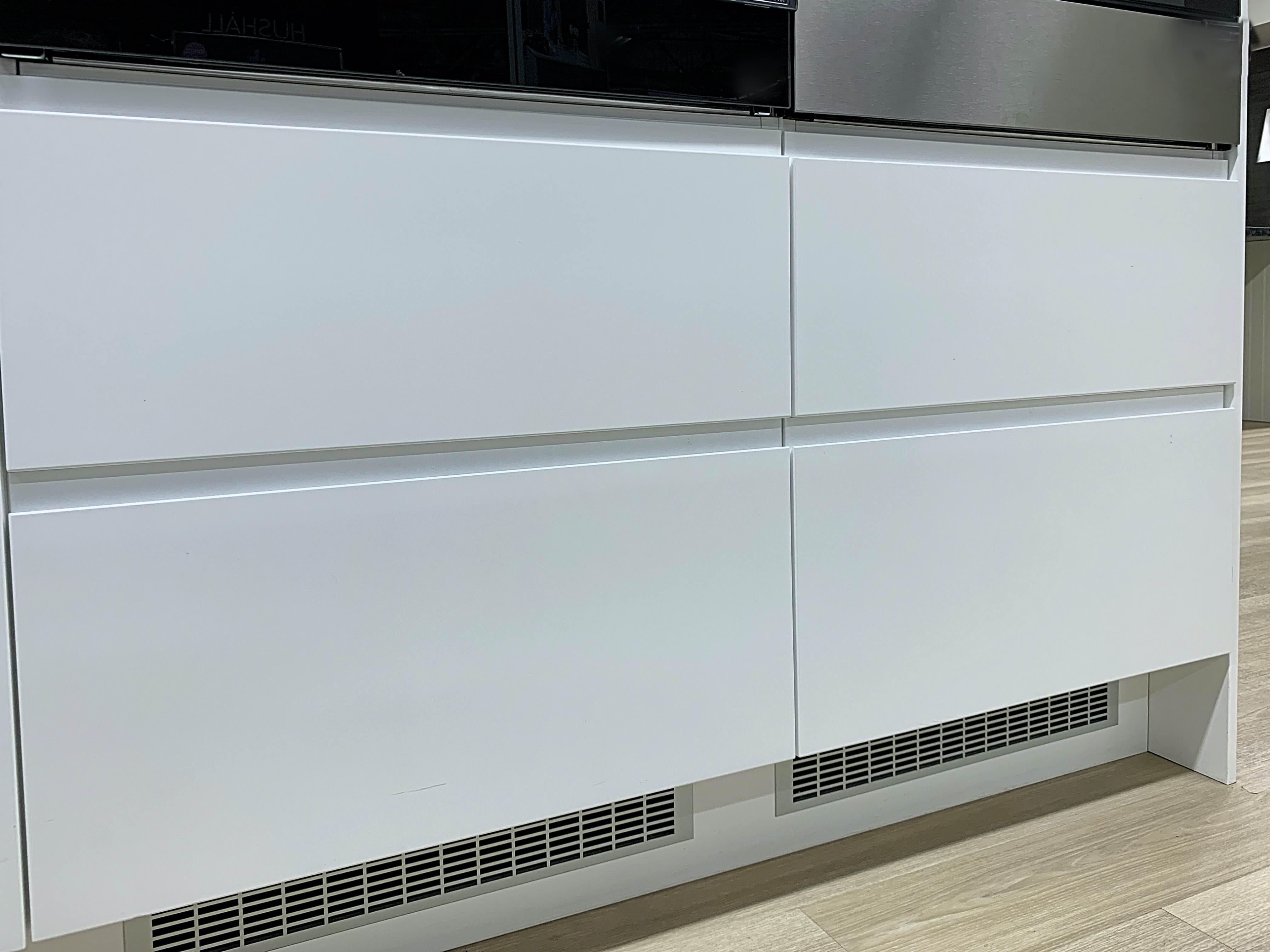 Handleless doors for IKEA Faktum kitchens White