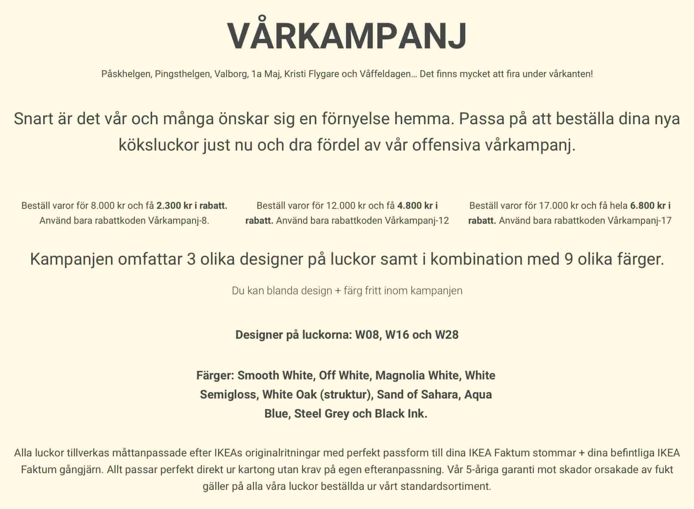 Vårkampanj luckor till IKEA Faktum