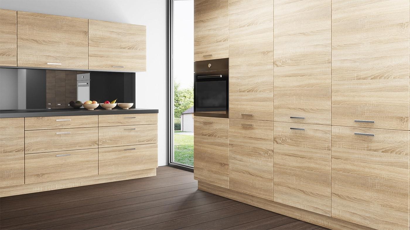 Kök IKEA Faktum med luckor i trä